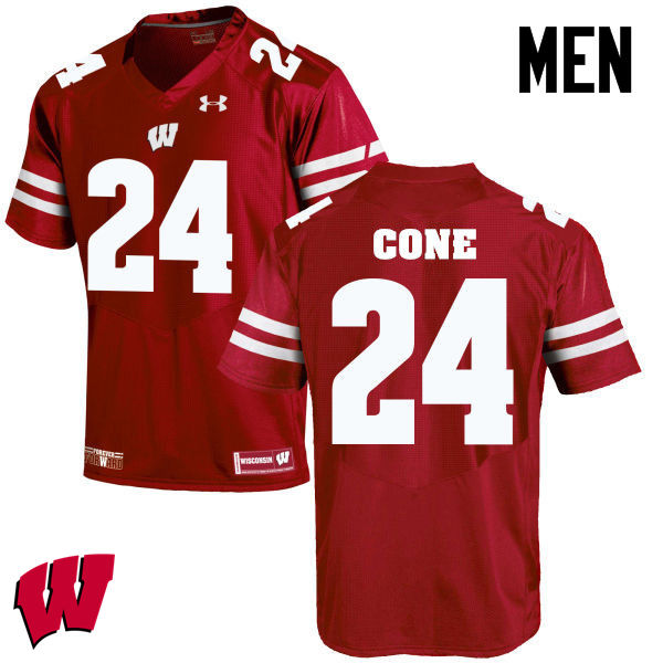 Men Winsconsin Badgers #24 Madison Cone College Football Jerseys-Red